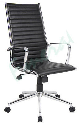 Albacete Executive Leather Faced Office Mananger Arm Chair In White Or Black