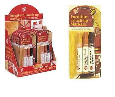Light Dark Medium Brown Furniture & Wood Scratch Repair Permanent Marker Pens