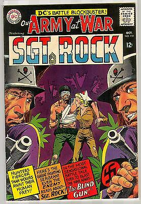 Our Army At War Sgt Rock 159 8.0 Nice Pages Nm Dark Cover