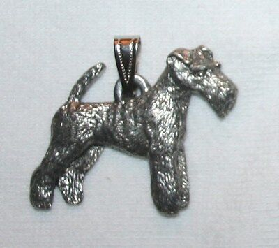 Wire Fox Terrier Dog Harris Fine Pewter Pendant USA Made