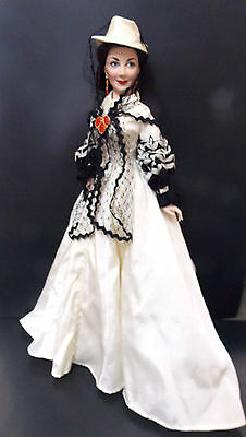 FRANKLIN MINT SCARLETT O'HARA GONE WITH THE WIND HONEYMOON OUTFIT BOX COA