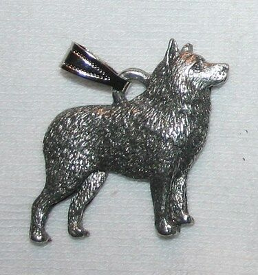 Schipperke Dog Harris Fine Pewter Pendant USA Made
