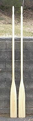 """Wonderful Set of 8' Pair Paddles OARS 96"""" Boat Wooden NEW Made of Spruce Wood"""