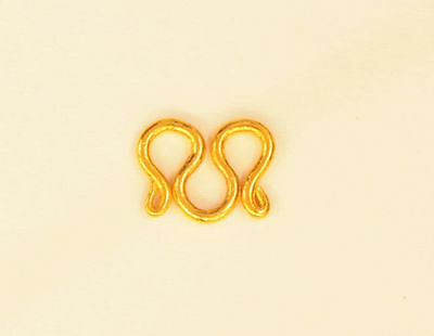 SOLID PURE 22K 22KT GOLD M CLASP FOR 22K 23K 24K  for 1/4 Baht NECKLACE
