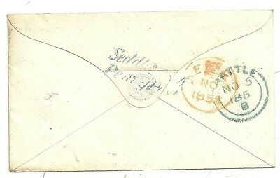 1855 LATE SEDDLESCOMBE PENNY POST UNDER BATTLE SUSSEX COVER 1d STAR