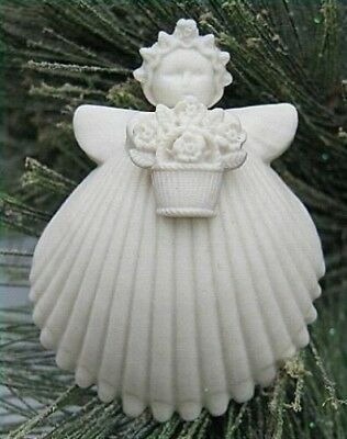 "Margaret Furlong 2"" Flower Basket Angel Orn NEW MIB w Easel Free Shipping"