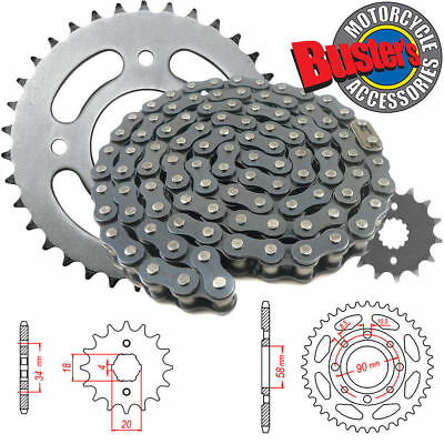 Heavy Duty Chain and Sprocket KIT Honda CG125 Brazil 1993-1998 JTKHCG125BB
