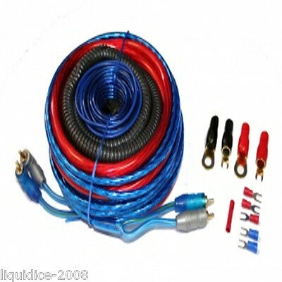 Amplifier Wiring Kit 2500 W Power Car Amp 4 Awg Gauge Sub Van Cable Fuse Holder