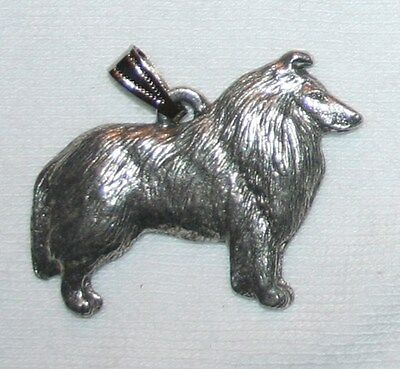 Collie Dog Harris Fine Pewter Pendant USA Made