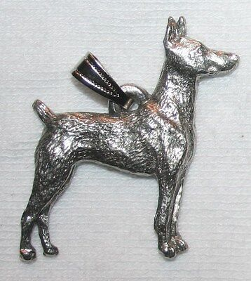 Doberman Pinscher Dog Harris Fine Pewter Pendant USA Made