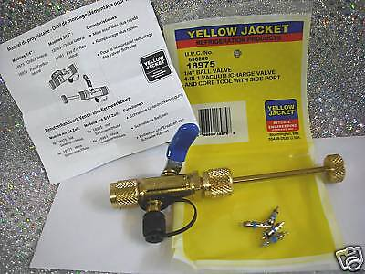 """Yellow Jacket, 1/4"""", R12, R22, 4 IN 1, Ball Valve Tool, Ritchie Part# 18975"""