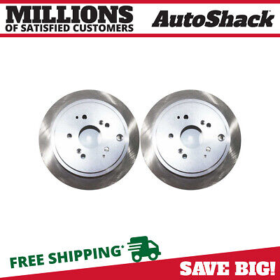 PAIR OF 2 PREMIUM REAR DISC BRAKE ROTORS NEW SET KIT FOR LEFT AND RIGHT SIDE