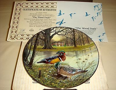BART JERNER Living With Nature Brilliant Colors & Exotic Shape WOOD DUCK Plate