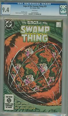 Saga Of The Swamp Thing 29 Cgc 9.4 White Pages 1984 Super Nice