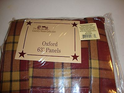 """Country house new OXFORD lined window panels/ 63"""" /nice"""