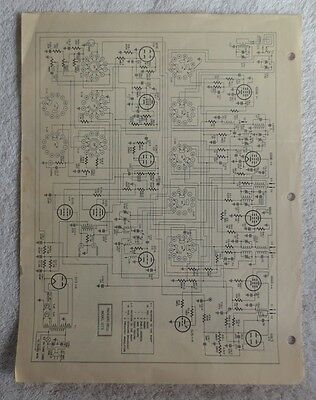 Packard-Bell PhonOcord Recording Console Model 1273 OEM Service Data, Schematic