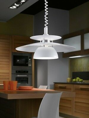 suspension monte et baisse plafonnier lampe de cuisine blanche luminaire 54676 eur 114 99. Black Bedroom Furniture Sets. Home Design Ideas