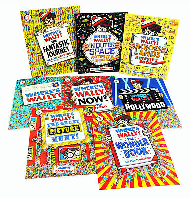 Where's Wally? CLassic Collection of 8 different Large Books