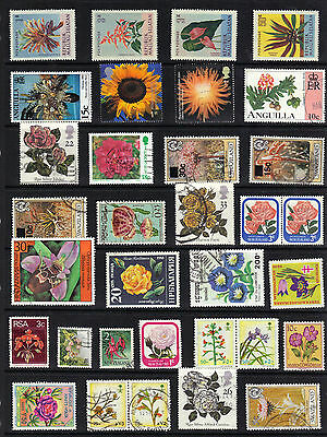 FLOWERS Thematic STAMP Collection INC MALUKU SELATAN 50k MNH REF:B547