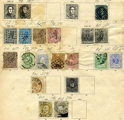 Belgium Classic Lot Stuck On Pages As Shown
