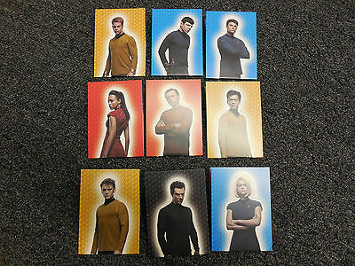 2014 Star Trek The Movies - Into Darkness - 9 Card Foldout Insert Set