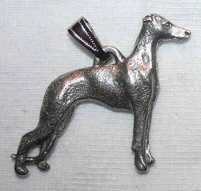 Whippet Dog Harris Fine Pewter Pendant USA Made