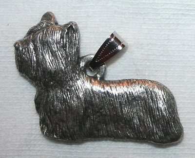Skye Terrier Dog Harris Fine Pewter Pendant USA Made
