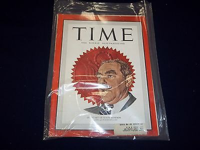 1949 FEBRUARY 28 TIME MAGAZINE - SECRETARY OF STATE ACHESON - COVER - D 1880