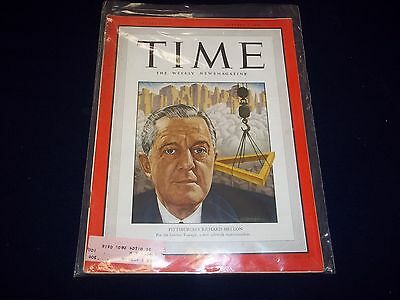 1949 OCTOBER 3 TIME MAGAZINE - PITTSBURGH RICHARD MELLON - FRONT COVER - D1848