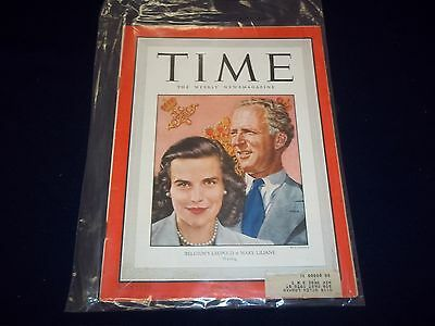 1949 JULY 18 TIME MAGAZINE - BELGUIM'S LEOPOLD & MARY LILIANE - COVER - D 1860