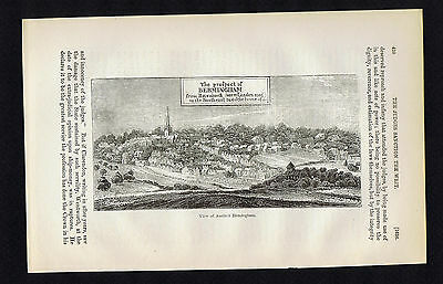 View of Birmingham England c1600 -1857 Page of English History