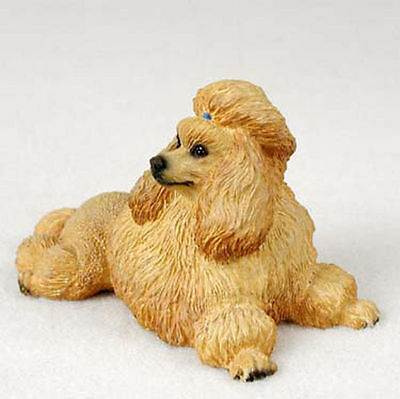 Poodle Figurine Hand Painted Statue Apricot