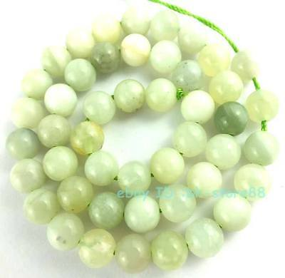 Beautiful! A 8mm New Jade Round Loose Beads 15''