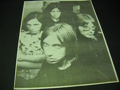 IGGY POP and the STOOGES b/w retro image 1995 PROMO DISPLAY AD mint condition
