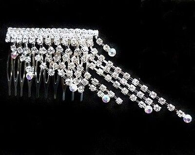 Beautiful Rhinestone Diamante  Crystal Tiara/Comb- Brand New T55