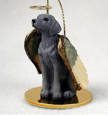 Weimaraner Dog Figurine Ornament Angel Statue Hand Painted