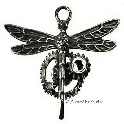 1 x STEAMPUNK PEWTER DRAGONFLY COMES WITH A CORD Wicca Pagan Witch Goth