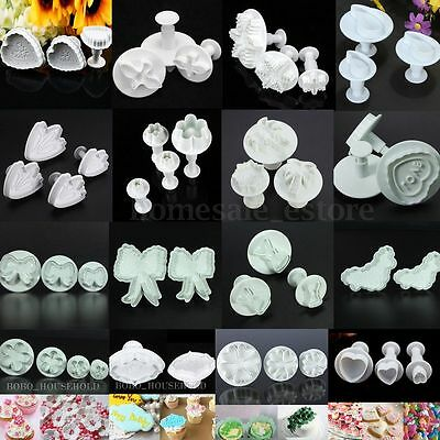 Cake Decorating Cookie Biscuit Sugarcraft Plunger Cutter Fondant Mold Tools XMAS
