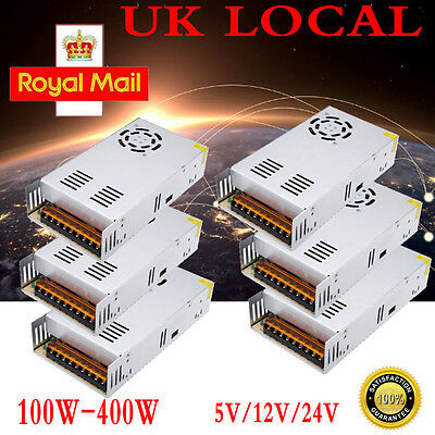 UK Stock DC 5V 12V Universal Regulated Switching Power Supply for LED Strip CCTV