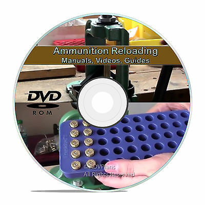 Reloading Manuals .45 7.62 .223 Firearms Reload Ammo Ammunition books CD DVD V22