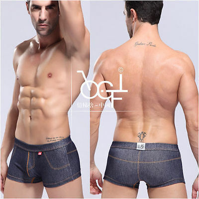 Sexy Boxer Shorts - Super Hipster Boxer Slip in Jeans-Style  -Hot-Geil-  Neu  M