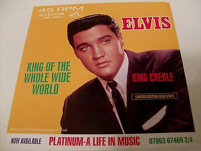 Elvis Presley ~ King Of The Whole Wide World ~ 1997 Rca Dme-11803 ~ Gold Vinyl