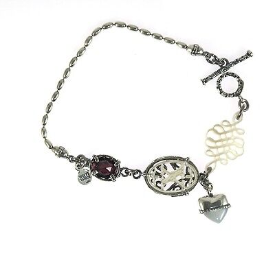 "Gem Kingdom,""Sweet Babylon"",white,Granat,Armband,Sterling Silber,Damenschmuck"