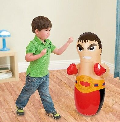 Childrens Kids 90Cm Inflatable 3D Boxer Boxing Punch Bop Bag Toy Ty7062