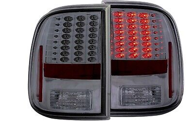 2x Black Housing Clear lens LED Tail Light for 08-16 Ford F-250//350//450//550