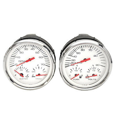 FARIA GTC010A / GSC011A MULTI-FUNCTION OVERSIZE BOAT GAUGES (SET OF 2