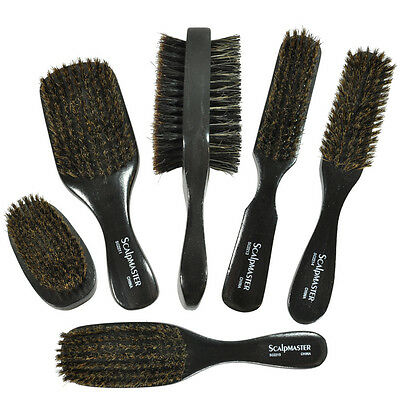 Scalpmaster Professional Styling Tools Reinforced 100% Boar Bristles Hair Brush