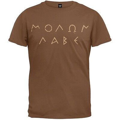 Molon Labe Ancient Greek Letters Brown Adult Mens T-Shirt
