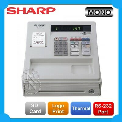 Sharp XE-A107 Heavy-Duty Cash Register with Locking Cash Drawer Built-in *WHITE*