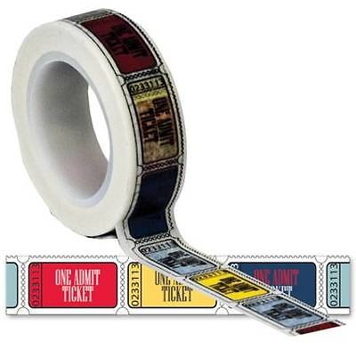 Queen & Co ~WASHI Trendy Tape TRAVEL TICKETS~ Scrapbook Cards 10 Yards NEW!